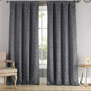 Dark Gray Blackening Curtains with Grommets